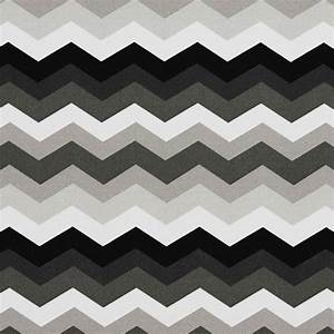 Black, Grey and White Chevron Outdoor Indoor Upholstery