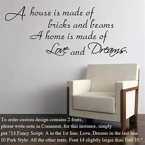 Make your own wall sticker quotes peenmediacom for Nice white wall decal quotes