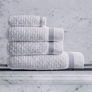Grande Serviette De Bain : serviette de bain ponge couture blanc serviettes et draps de bain le bain le jacquard ~ Teatrodelosmanantiales.com Idées de Décoration