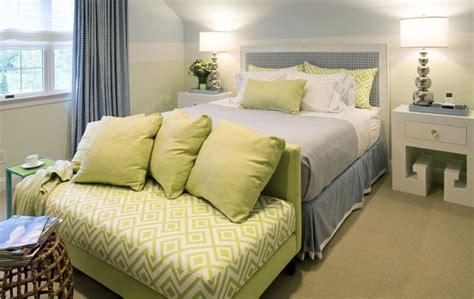 Blue And Green Bedroom  Cottage  Bedroom  Willey Design