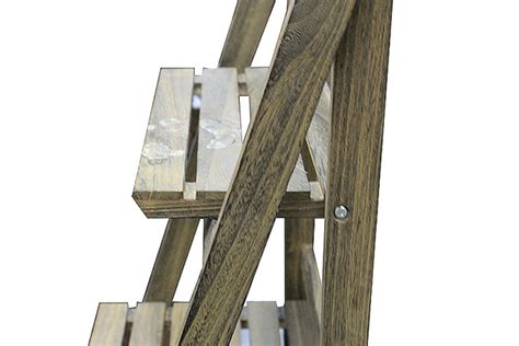 dark wooden  tier plant stand rack shelf