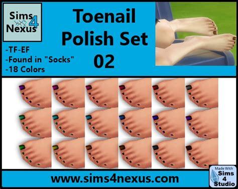 bandana set 02 toenail set 02 by samanthagump at sims 4 nexus