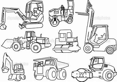 Construction Coloring Pages Printable Equipment Vehicles Tractor