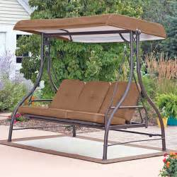 Patio Swings With Canopy Walmart by Mainstays Lawson Ridge Converting Outdoor Swing Hammock