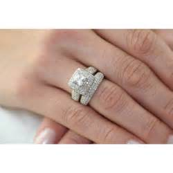 wedding ring sets trendy wedding ring set on finger 7 trendy mods
