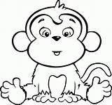 Coloring Monkey Printables Cartoon sketch template