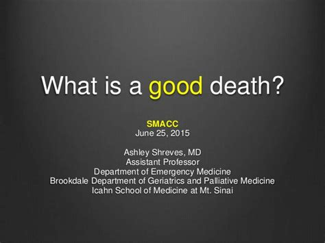 good death  ashley shreves