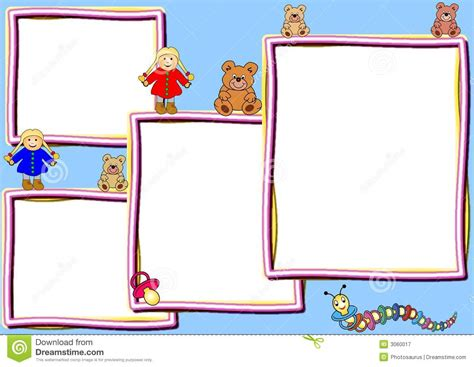Different Frames With Toys Royalty Free Stock Photography