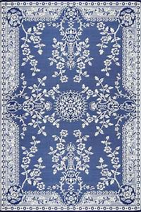 Oriental garland blue white rugs for Blue and white carpet texture
