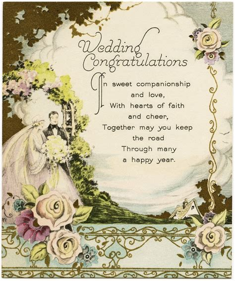 vintage wedding congratulations  design shop blog