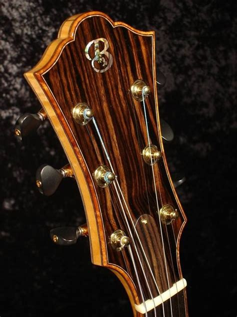 koa bound archtop guitar headstock guitar headstocks