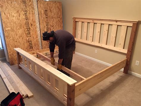 ana white farmhouse bed diy projects