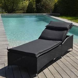 Bain De Soleil Noir : lettino prendisole livorno nero lettino da spiaggia ~ Edinachiropracticcenter.com Idées de Décoration