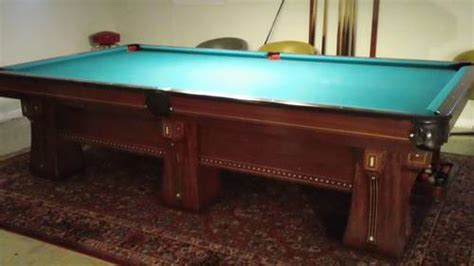 10 ft pool table brunswick arcade vintage 10 ft pool table 6 legs gorgeous