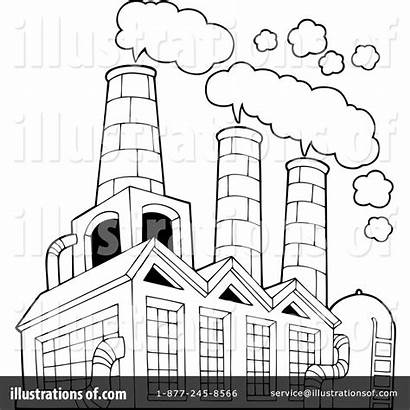 Factory Clipart Illustration Pollution Drawing Rf Visekart