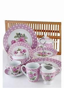 Geschirr Set Vintage : geschirr set porzellan tafelservice geschirrset kaffeeservice vintage 28tlg rosa ~ Markanthonyermac.com Haus und Dekorationen