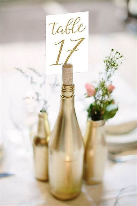 creative diy wine bottle wedding centerpieces