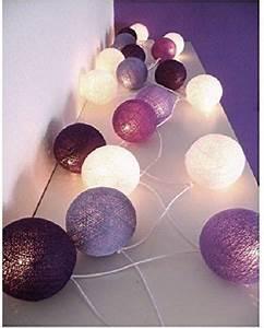 Cotton Balls Lichterkette : led lichterkette cottonballs cotton balls in lila 10 tlg beleuchtung diys ~ Eleganceandgraceweddings.com Haus und Dekorationen