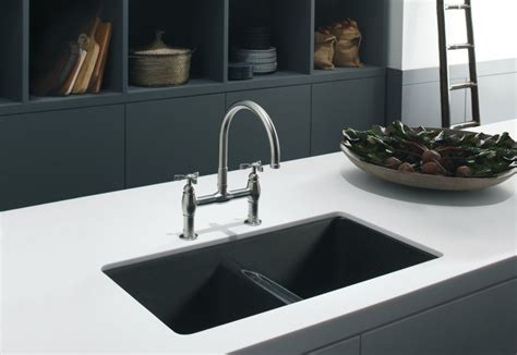 black undermount kitchen sinks choosing your black cast iron kitchen sink the homy design 4759