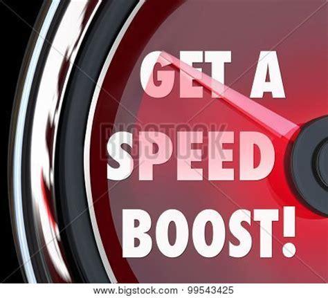 speed boost illustrate lightbox create words