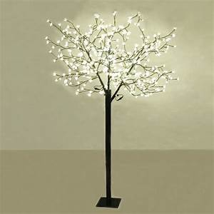 18m outdoor led cherry blossom tree 384 warm white led for Draper 3 light tree floor lamp