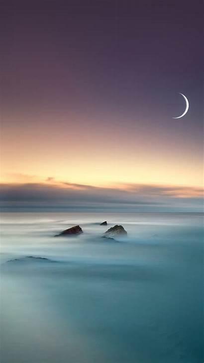 Iphone Moon Lake Eclipse Nature Fog Mist