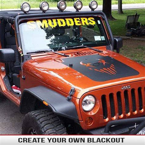 jeep hood decals make your own hood blackout custom hood blackouts from
