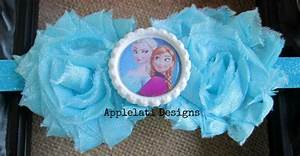 Disney Frozen hair bow hair flower with foe headband ...
