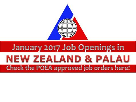 international employment to new zealand palau hiring filipino workers poea approved jobs