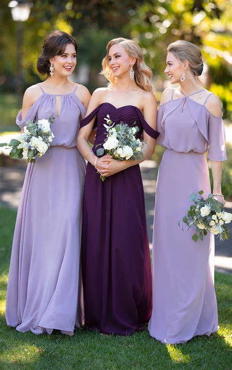 chiffon bridesmaid dress  flutter sleeves sorella vita