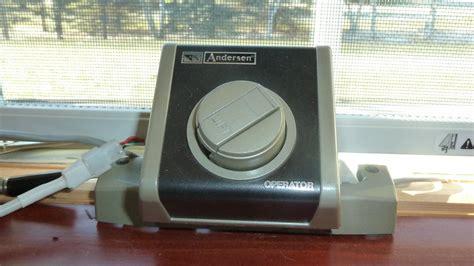 quadomated anderson casement window  vdc electric