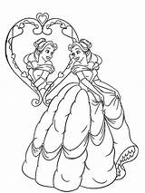 Mirror Coloring Pages Drawing Belle Mirrors Looking Handle Popular Paintingvalley Template sketch template