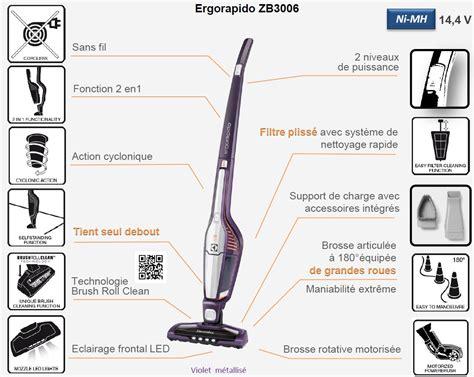 aspirateur de cuisine sans fil electrolux zb3006