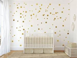 gold vinyl wall decal sticker wall art stars gold star decal With gold wall decals