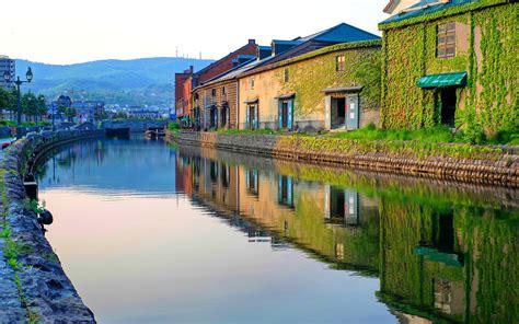 japan hokkaido otaru house river photo preview wallpapercom