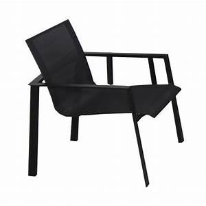 Fauteuil Jardin Aluminium : fauteuil de jardin en aluminium miami noir leroy merlin ~ Teatrodelosmanantiales.com Idées de Décoration