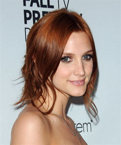 ashlee simpson casual long straight   hairstyle