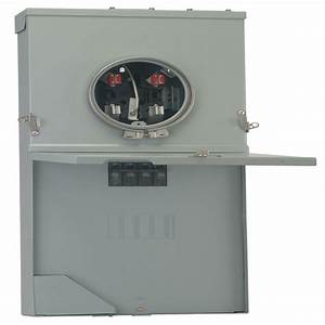 Ge 200 Amp 4 Underground Meter Socket Load Center