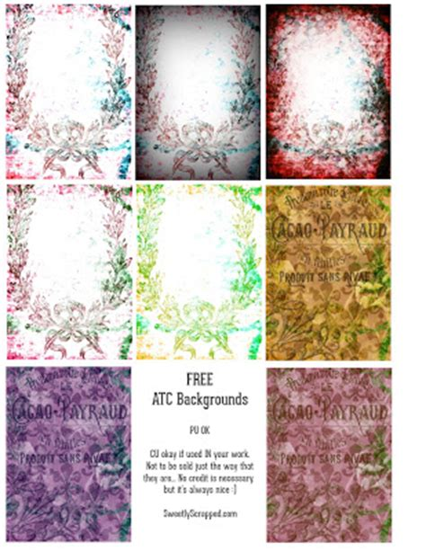 atc card  printables sweetly scrapped