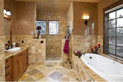 Bathroom Bathtub Shower Stone Floor Tile Surrounds