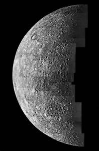 Space Images   Photomosaic of Mercury - Inbound View