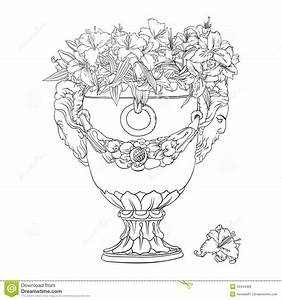Antique Flowerpot Stock Illustration - Image: 49344369