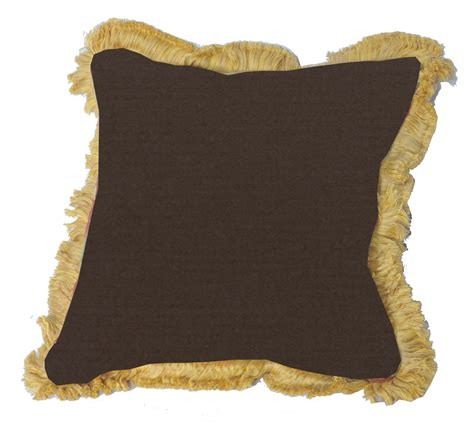 pillows with fringe throw pillow indoor outdoor 17 quot square sunbrella standard solid with fringe