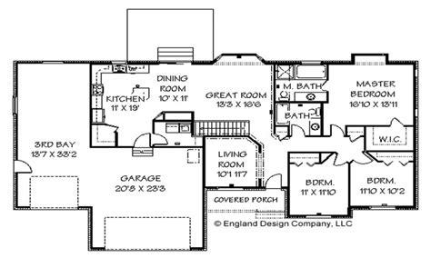 cape  house ranch style house floor plans  basement large ranch home plans treesranchcom