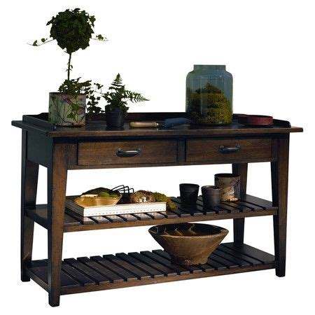 sofa table with outlet wood console table with a power outlet and two drop front
