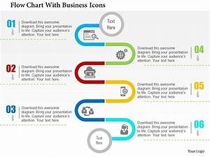 Flow Chart With Business Icons Flat Powerpoint Design