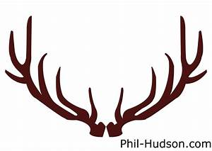Brown clipart deer antler - Pencil and in color brown ...