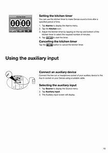 Using The Auxiliary Input  Connect An Auxiliary Device