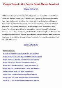 Piaggio Vespa Lx50 4t Service Repair Manual D By
