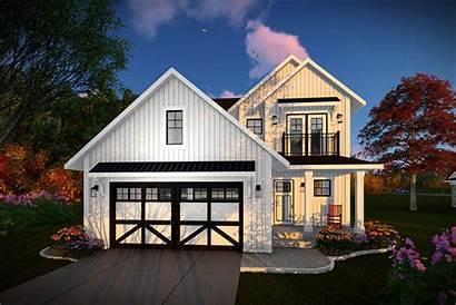 Farmhouse Plan Plans Modern Ft Sq Building